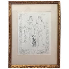 "Fine Art ""Eros and Eurybia"" by George Braque, Original Etching"