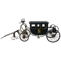 Model of a Royal Carriage / Framed Chinese Silk Embroidery