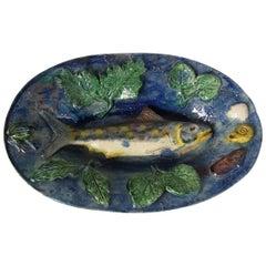 French Palissy Majolica Fish Wall Platter