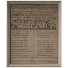 Antique Sampler, 1824 by Ursula Burch