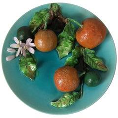 Menton Majolica Oranges Wall Plate