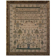 Antique Sampler, 1832 by Mary Lewis