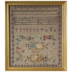Antique Sampler, 1809, by Ann Shaw