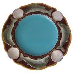 Minton Majolica Fish Plate