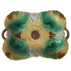 Wedgwood Majolica Sunflower Platter