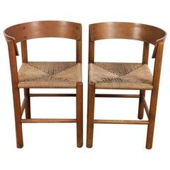 Midcentury Danish Pair of Chairs by Mogens Lassen for Fritz Hansen