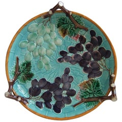 Wedgwood Majolica Grapes Dish
