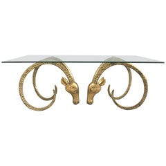 Brass Ibex Coffee Table Attributed to Alain Chervet