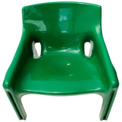 Green Vicario Armchairs by Vico Magistretti for Artemide, 1970s