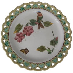 Wedgwood Majolica Hummingbird and Butterfly Plate