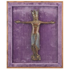 Christ 'Corpus Christi' Enamel, Copper, Textile, Wood, Limoges 12th-13th Century