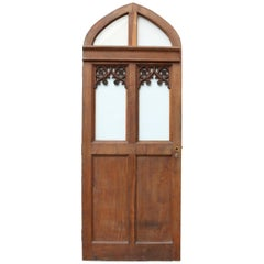Glazed Arched Oak Door, circa 1900