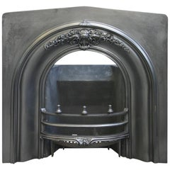 Antique Victorian Cast Iron Arched Fireplace Insert