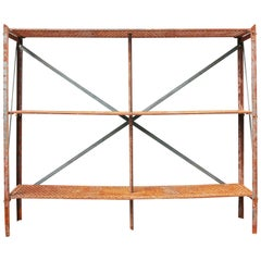 Antique Cast Iron Shelving Units