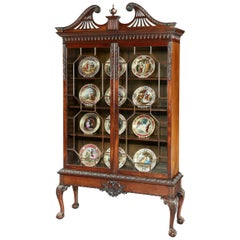 19th Century Display Cabinet in the Manner of Thomas Chippendale