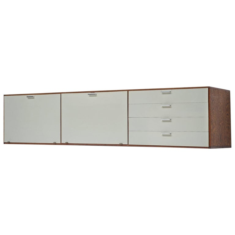 Cees Braakman for Pastoe Wengé Wooden Sideboard For Sale