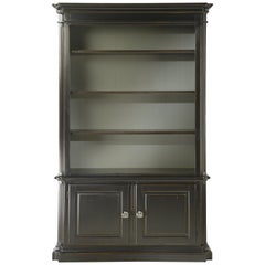 Black Solid Wood Bookcase in Classic Style