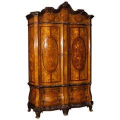 20th Century Inlaid Wood Dutch Wardrobe, 1920