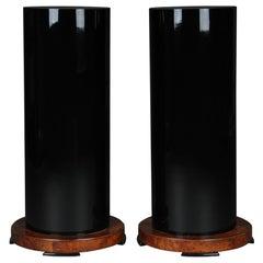 Pair of Columns / Pedestals in Art Deco Style