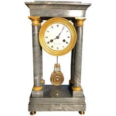 19th Century Empire Marble France Clock