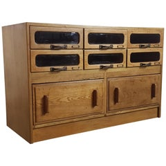 Vintage Oak Early 20th Century 8 Drawer Haberdashery Cabinet