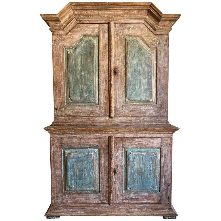 18th Century Swedish Gustavian Period Cabinet For Sale
