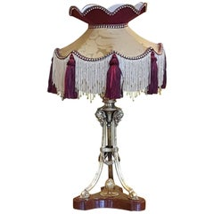 Late Victorian Gilt Bronze Adam Style Table Lamp