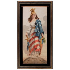 Lady Columbia Surmounting the Globe with Sheathed Sword and Federal Shield