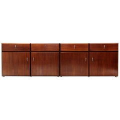 Italian Midcentury Sideboard by Vittorio Introini for Saporiti, 1970s, Set of 2