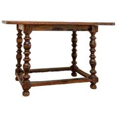 17th-18th Century Antique Oak Tavern Table