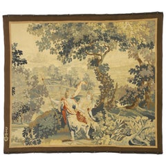 Antique French Aubusson Tapestry Baroque Style Wall Hanging