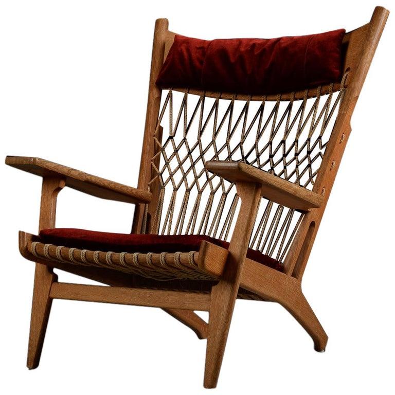 Very Rare Hans Wegner Oak Flag Halyard Chair JH719 for Johannes Hansen For Sale