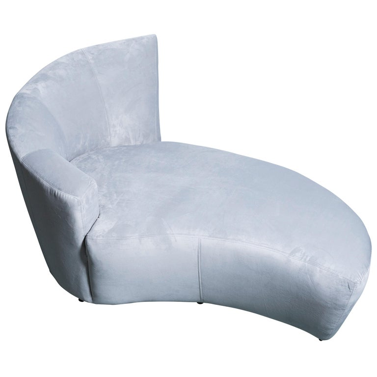 Vladimir Kagan Ultrasuede Lounge Chair For Sale