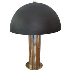 Midcentury Chrome and Brass Lamp by Robert Sonneman for Kovacs