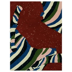 Rectangular Cosmos Rug by Cody Hoyt and Kinder Modern in 100% New Zealand Wool