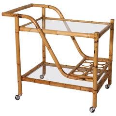 Bamboo Bar Cart, circa 1970