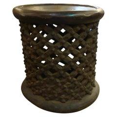 Bamileke Wood Side Table