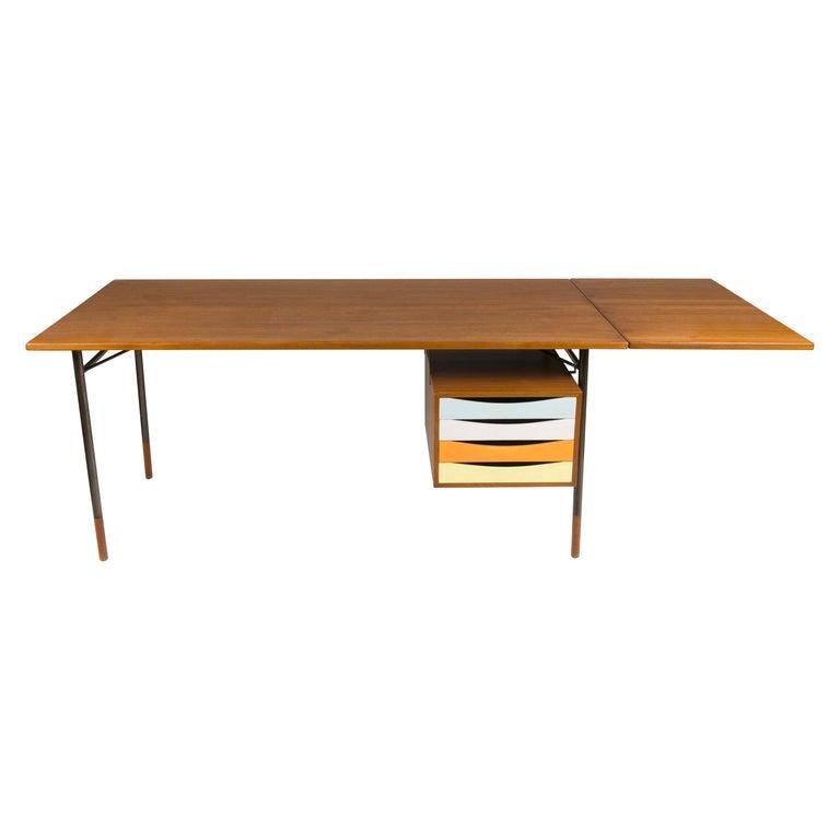 Finn Juhl Model BO69 Nyhavn Teak Desk with Extension for Bovirke, Denmark, 1950s For Sale