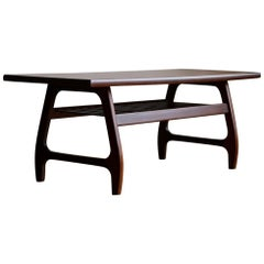 Midcentury Danish Modern Two-Toned Coffee Table