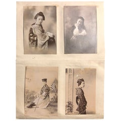 Japan Antique Geisha Bijin Photo Album of Beauties Album 1890, 26 Photographs