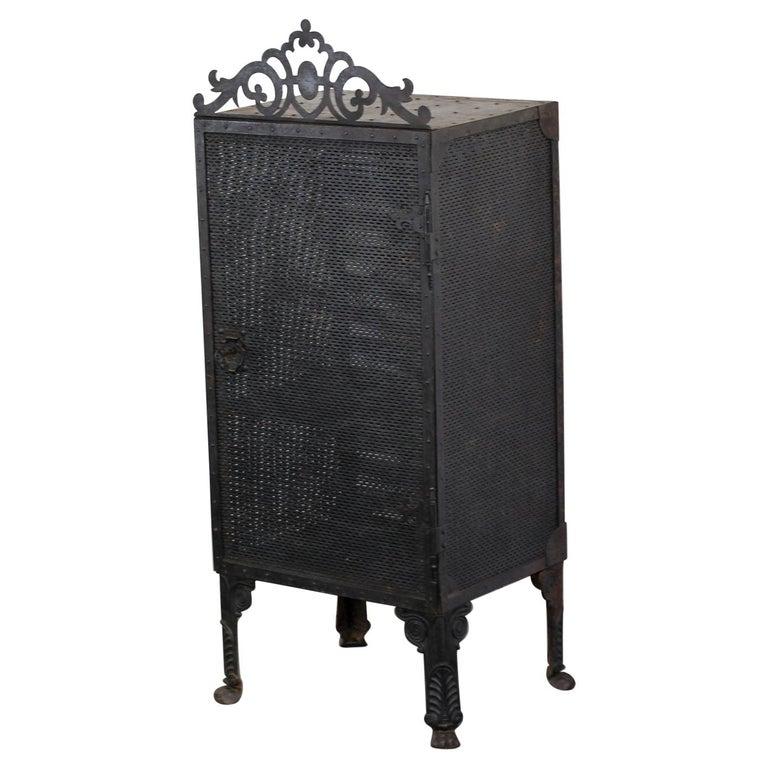 Gothic Revival Blacksmith Made Smoke Cabinet, circa 1880 For Sale