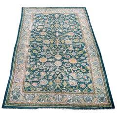 Antique Sultanabad Ziegler Carpet Ivory Border, 1890
