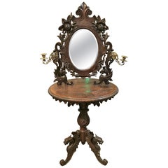 19th Century Continental Black Forest Shaving Stand