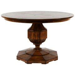 Vintage Round Pedestal Dining Table