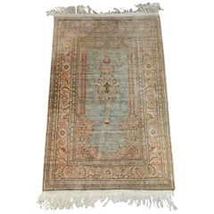 Antique Wool Oriental Scatter Rug