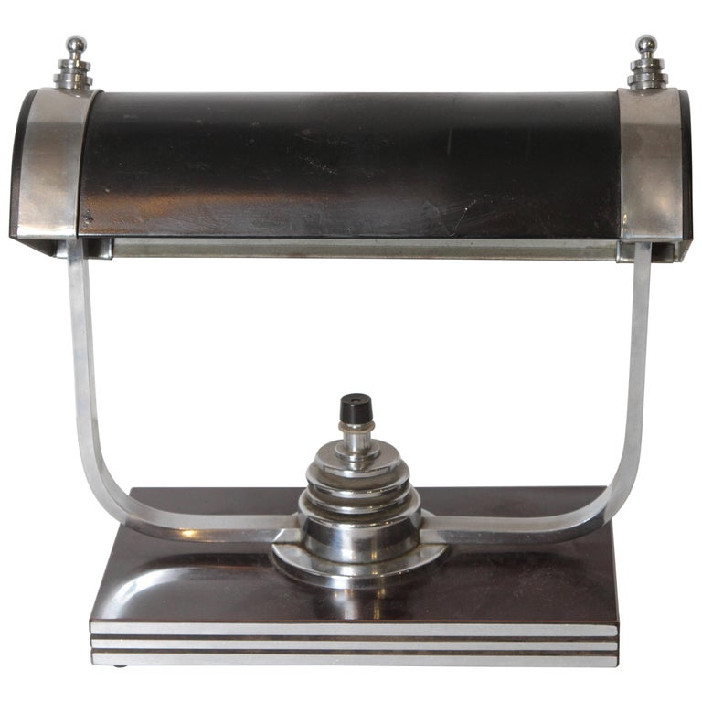 Machine Age Art Deco Markel Table Lamp For Sale