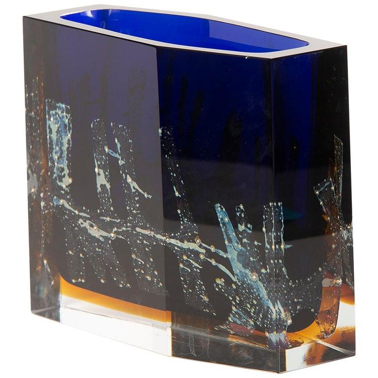 Pavel Hlava Egerman Exbor Czech Glass Vase For Sale