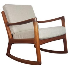 Ole Wanscher, 1960s Teak Rocking Chair Made by France and Son, Denmark