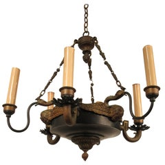 1940s French Neoclassical Small Chandelier