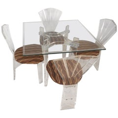Mid-Century Modern Lucite Dining Set